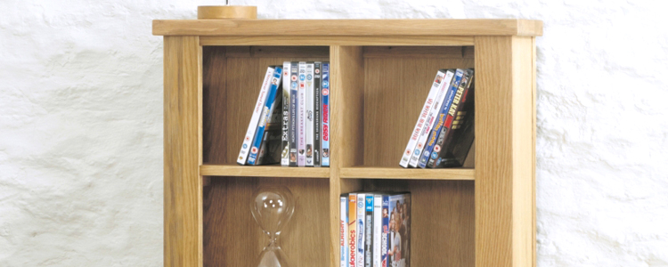 Oak CD DVD Racks