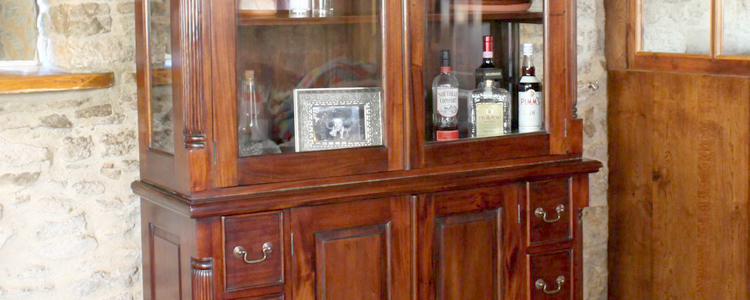 Dark Wood Display Cabinets