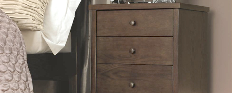 Dark Wood Bedside Cabinet