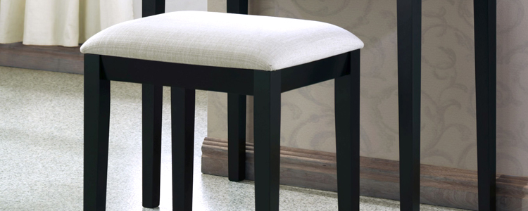 Black Bedroom Stool