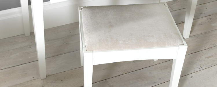 White Bedroom Stool