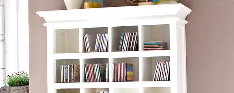 White CD DVD Racks
