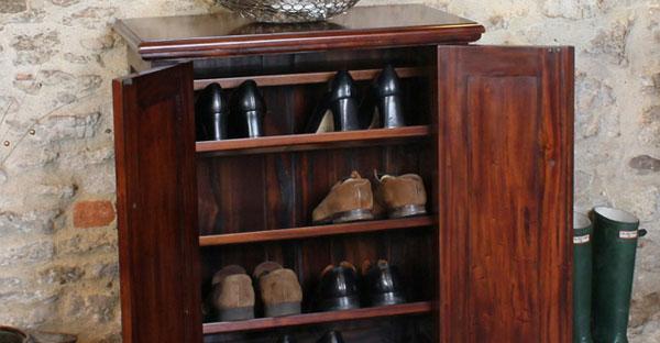 Mahogany Shoe Racks