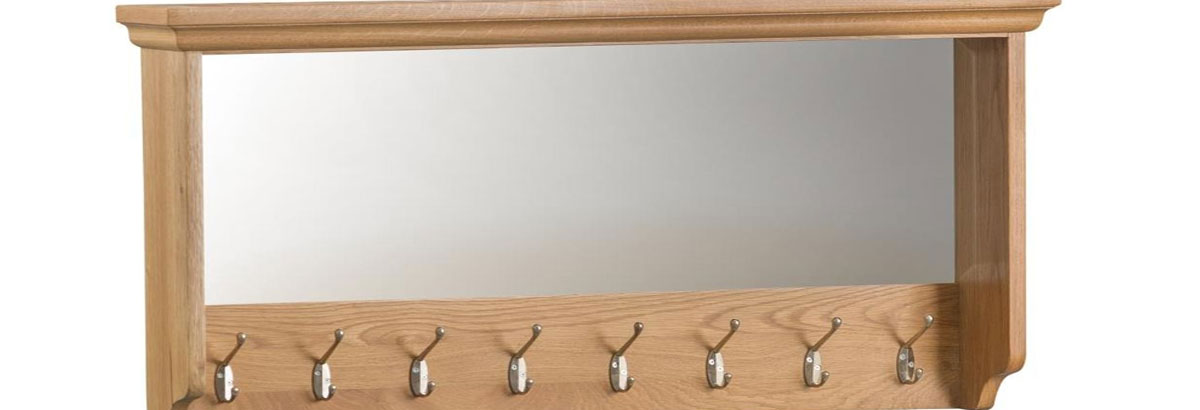 Coat Rack and Wall Shelves