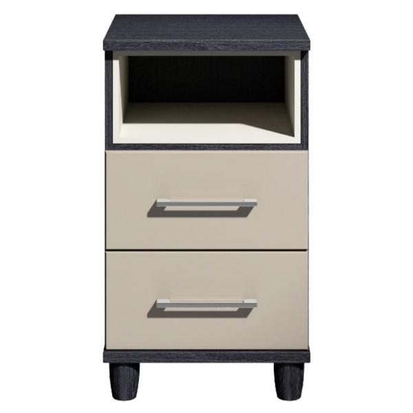 Brighton Grey High Gloss 2 Drawer Bedside Cabinet