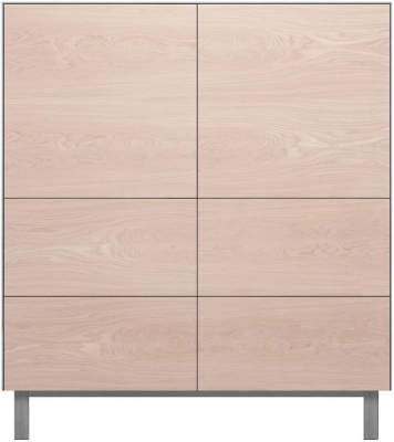 Cubo Grey Square Cabinet 2 Door and 4 Drawer