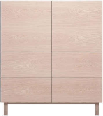Cubo Oak Square Cabinet 2 Door and 4 Drawer