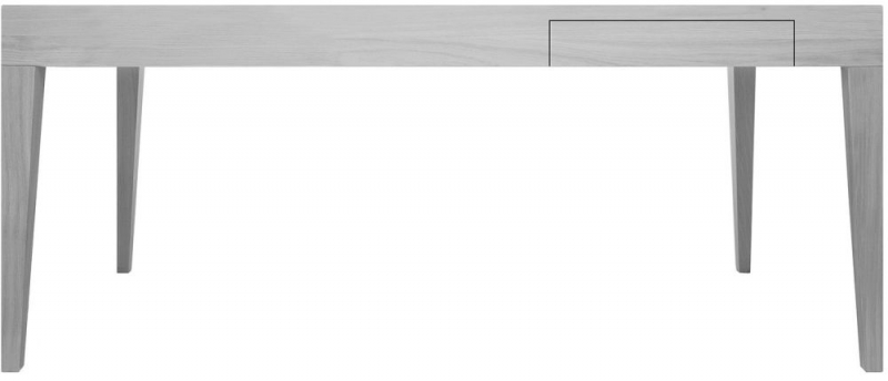 Cubo Grey Rectangular Dining Table with Drawer