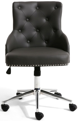 Sofia Graphite Grey Leather Match Office Chair