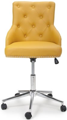 Sofia Yellow Leather Match Office Chair