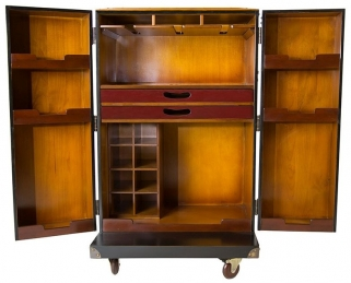 Black Polo Club Bar Cabinet