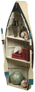 Dory Book Shelf Table with Glass