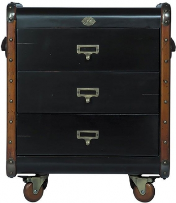 Stateroom Black 3 Drawers Chest