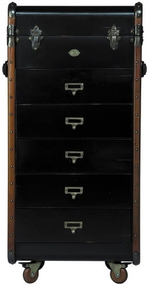 Stateroom Black 5 Drawers Chest
