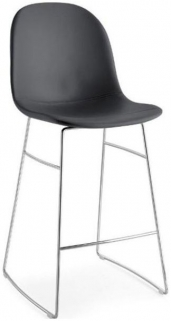Connubia Academy Metal and Leather Bar Stool with Footrest