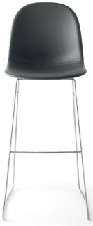 Connubia Academy Metal and Leather High Bar Stool with Footrest