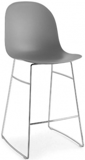 Connubia Academy Metal and Plastic Bar Stool with Footrest