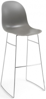 Connubia Academy Metal and Plastic High Bar Stool with Footrest