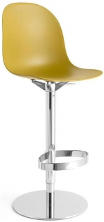 Connubia Academy Metal and Plastic Swivel High Bar Stool with Footrest