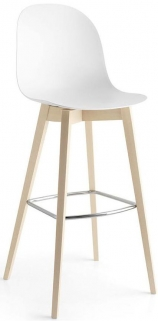Connubia Academy W Wood and Plastic Bar Stool with Footrest CB1673