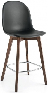 Connubia Academy W Wood and Synthetic Fabric Bar Stool with Footrest CB1672-SK