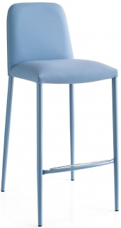Connubia Club Metal Upholstered Bar Stool with Footrest