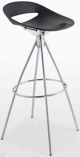 Connubia Cosmopolitan Metal Large Bar Stool with Footrest