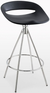 Connubia Cosmopolitan Metal Small Bar Stool with Footrest