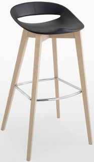 Connubia Cosmopolitan Wooden Large Bar Stool with Footrest