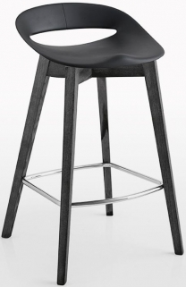 Connubia Cosmopolitan Wooden Small Bar Stool with Footrest