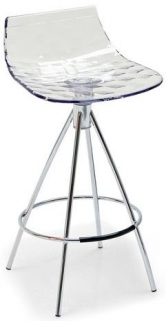 Connubia Ice Metal and Plastic Bar Stool with Footrest