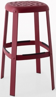 Connubia Industrial Metal Large Bar Stool with Footrest