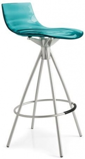 Connubia Leau Metal and Technopolymer Bar Stool with Footrest