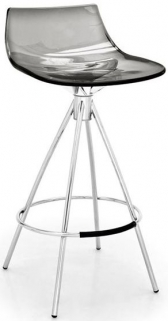 Connubia Led Metal and Plastic Bar Stool with Footrest