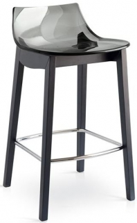 Connubia Led W Wooden and Technopolymer Bar Stool with Footrest