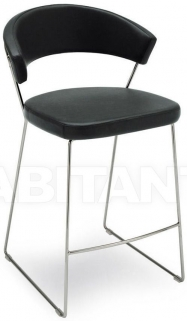 Connubia New York Metal Upholstered Bar Stool with Footrest CB1087-SK