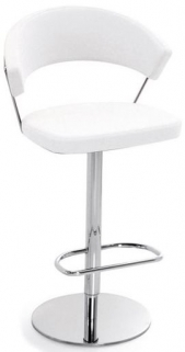 Connubia New York Metal Upholstered Swivel Bar Stool with Footrest CB1088-LH