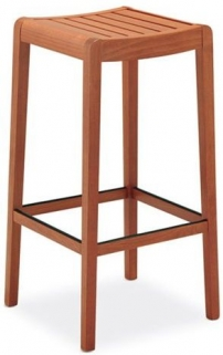 Connubia Party Rustic Solid Wood Large Bar Stool
