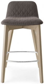 Connubia Sami Solid Wood Bar Stool with Footrest