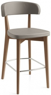 Connubia Siren Wooden Bar Stool with Footrest