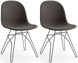 Connubia Academy Vintage Faux Leather Dining Chair (Pair)