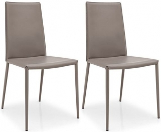 Connubia Boheme Leather Dining Chair (Pair)