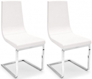 Connubia Cruiser Monoblock Leather Seat Dining Chair (Pair)