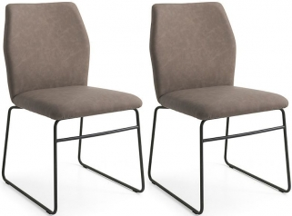 Connubia Hexa Dining Chair with Metal Sled Base (Pair)
