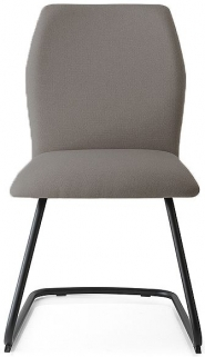Connubia Hexa Vintage Leather Dining Chair with Metal Cantilever Base