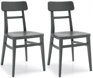 Connubia Milano Beech Wood Dining Chair (Pair)