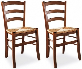 Connubia Venezia Rustic Solid Beech Wood Dining Chair (Pair)