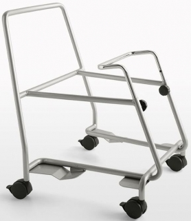 Connubia Academy Metal Satin Finished Steel Stackable Chair Trolly
