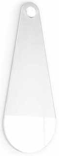 Connubia Lacquered Glossy White Drop Petal Shaped Large Wall Mirror