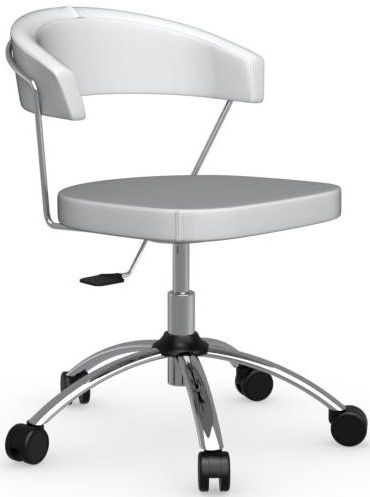 Connubia New York Upholstered Synthetic Fabric and Metal Swivel Office Chair
